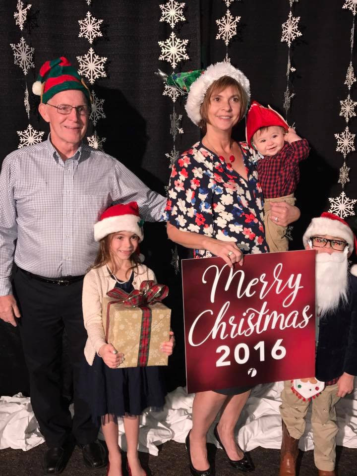 Photo booth after Christmas service at Crossroads Community Church. My mom, step-dad and sister's adorable kids