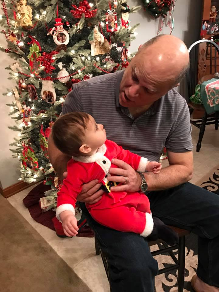 The best dad in the world with the sweetest nephew :)